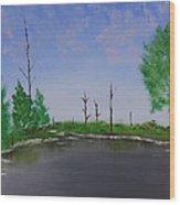 Bullfrog Reservoir Wood Print