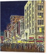 Bullock's Department Store On Broadway In Downtown Los Angeles Ca Around 1940 Wood Print