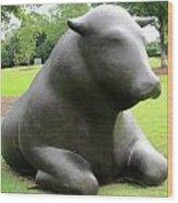 Bulls 5 Wood Print by Randall Weidner