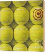 Bullseye Tennis Balls Wood Print