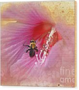 Bumble Bee Bliss Wood Print