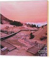 Bumpass Hell Sunset Wood Print