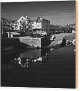 bunbeg house guesthouse in bunbeg harbour and clady river gweedore bay county Donegal Republic of Ireland Wood Print