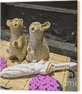 Bunbun Wood Print
