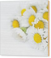 Bunch Of Daisies Wood Print