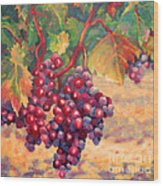 Bunch Of Grapes Wood Print