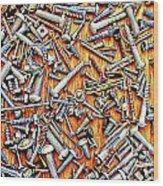 Bunch Of Screws 1- Digital Effect Wood Print