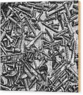 Bunch Of Screws 3- Digital Effect Wood Print