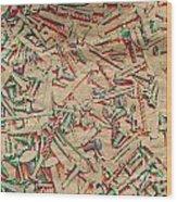 Bunch Of Screws 5 - Digital Effect  Wood Print by Debbie Portwood