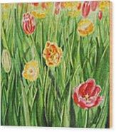Bunch Of Tulips II Wood Print