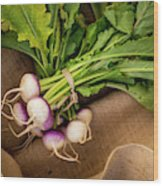 Bunch Of Turnips Wood Print