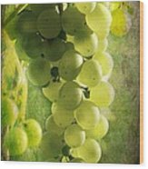 Bunch Of Yellow Grapes Wood Print