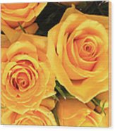 Bunch Of Yellow Roses Wood Print
