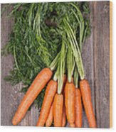 Bunched Carrots Wood Print by Jane Rix