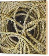 Bundle Of Old Straw Rope Wood Print