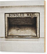 Bundled Mail Wood Print