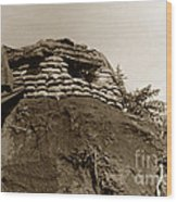 Bunker Above The Dak Poko River Near Dak To Kontum Province Vietnam 1968 Wood Print