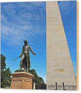 Bunker Hill Monument Wood Print by Catherine Reusch Daley