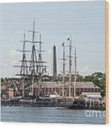 Bunker Hill With Ships Wood Print