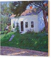 Bunker's Roadside Cottage Wood Print