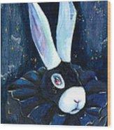 Bunny Blues Wood Print