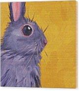 Bunny Wood Print by Nancy Merkle