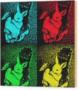 Bunny Pop Art Wood Print