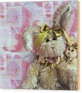 Bunny Rose Wood Print