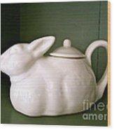 Bunny Teapot  Wood Print