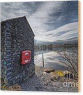 Buoy At Lake Wood Print by Adrian Evans