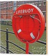 Buoy Foam Lifesaving Ring Wood Print by Luis Alvarenga