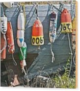 Buoy Hang Out Wood Print