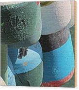 Buoys Tied Up Wood Print