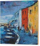 Burano Canal - Venice Wood Print