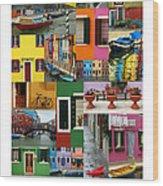 Burano Italy Poster Wood Print