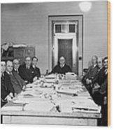 Bureau Of Navigation Meeting Wood Print