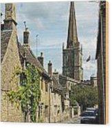 Burford Village Street Wood Print