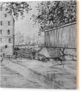 Burfordsville Bridge And Bollinger Mill Wood Print