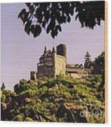 Burg Katze Castle On The Rhine Wood Print