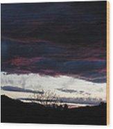 Burgandy Storm  Wood Print