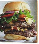 Burger - Fast food Serie Wood Print