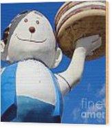 Burgerman Of Coney Island Wood Print