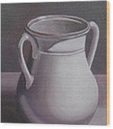 Burgundy Amphora Wood Print