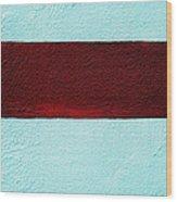 Burgundy Stripe Wood Print by Marcia Lee Jones