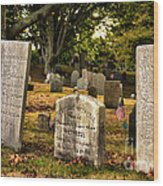 Burial Hill Cemetery-close Up Wood Print