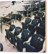 Buried Gillette Stadium Seats Wood Print