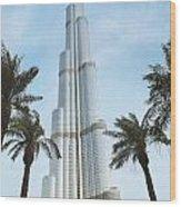 Burj Khalifa Wood Print by Jelena Jovanovic