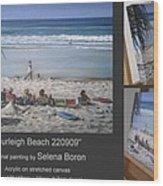 Burleigh Beach 220909 Wood Print by Selena Boron