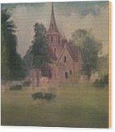 Burlington  NJ  Church Wood Print