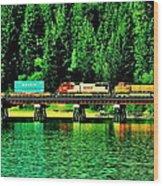 Burlington Northern Wood Print